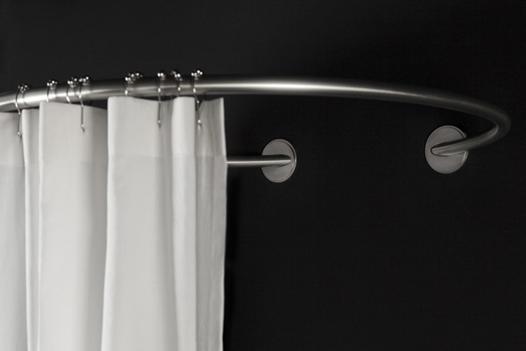 barre de rideau de douche arrondie