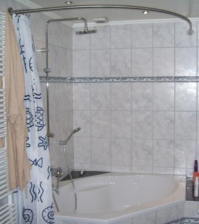 barre rideau de douche pour baignoire d angle
