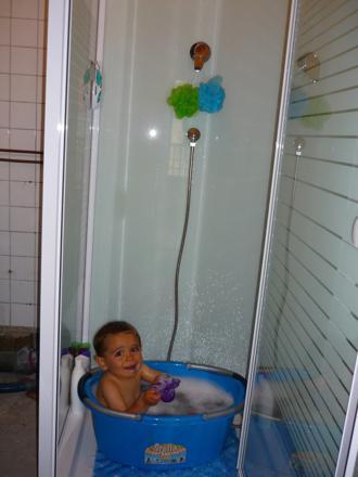bassine bebe douche