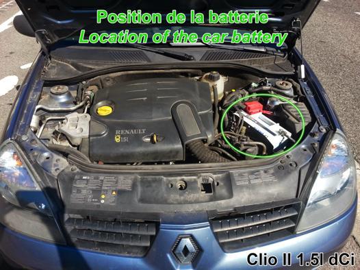 batterie clio 2