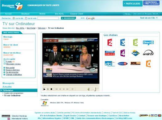 bbox télé sur pc