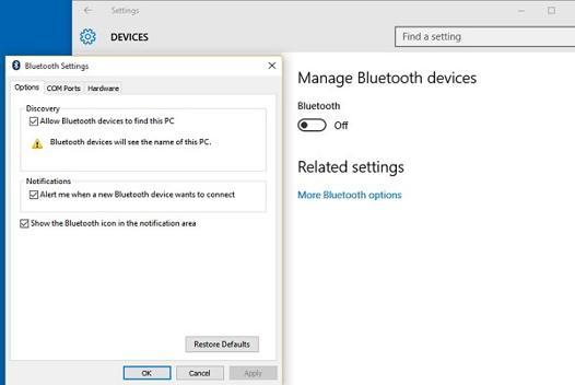 bluetooth pc windows 10
