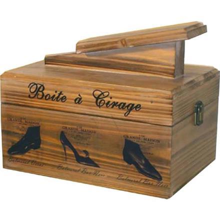 boite à cirage en bois