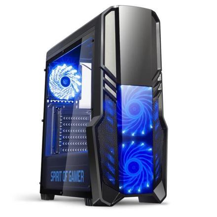 boitier pc gamer bleu
