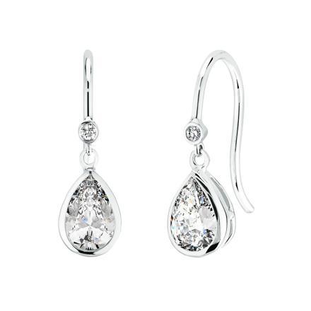 boucle d oreille pendante diamant