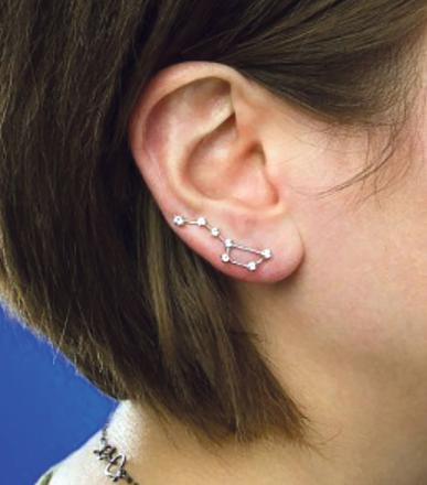 boucle d'oreille constellation