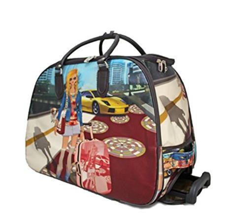 sac de voyage a roulette femme