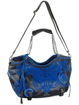 sac desigual noir et bleu