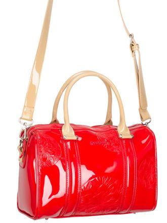 sac desigual rouge vernis