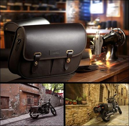 sacoche moto cuir vintage