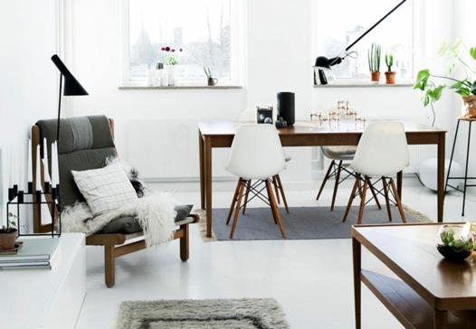 salon scandinave gris
