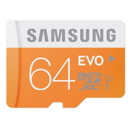 samsung 64 go carte mémoire evo micro sd classe 10