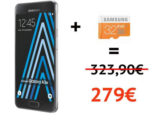 samsung galaxy a3 carte micro sd