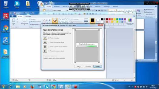 scanner avec une imprimante hp