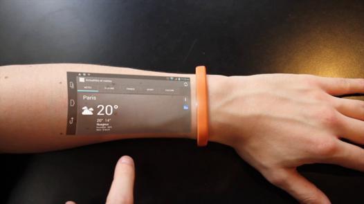 bracelet connecté projecteur