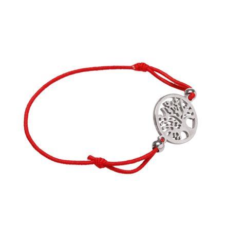 bracelet cordon rouge femme