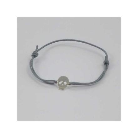 bracelet cordon tete de mort