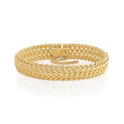 bracelet or plaqué