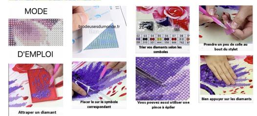 broderies diamants