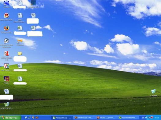 bureau windows xp