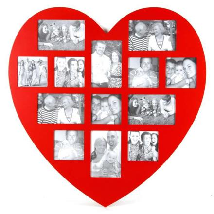 cadre photo coeur rouge