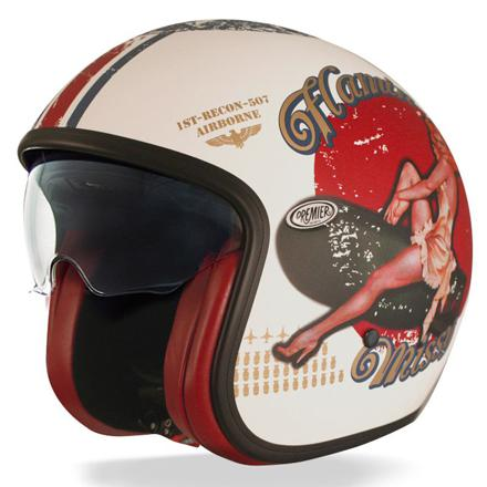 casque jet vintage femme