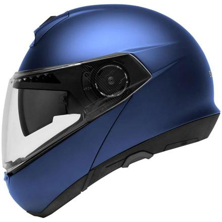 casque moto bleu