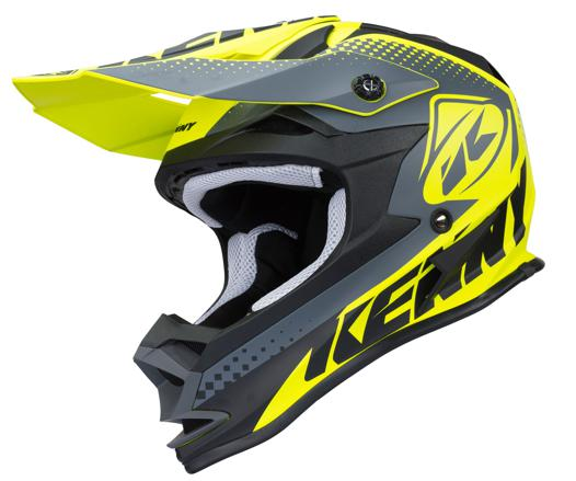 casque moto cross jaune