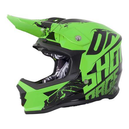 casque moto cross vert