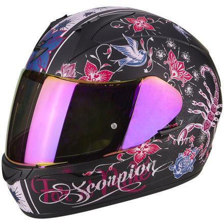 casque moto fille rose