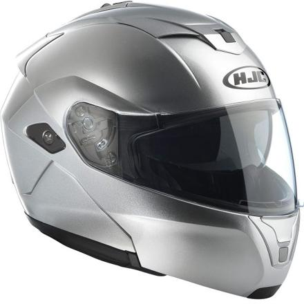 casque moto gris