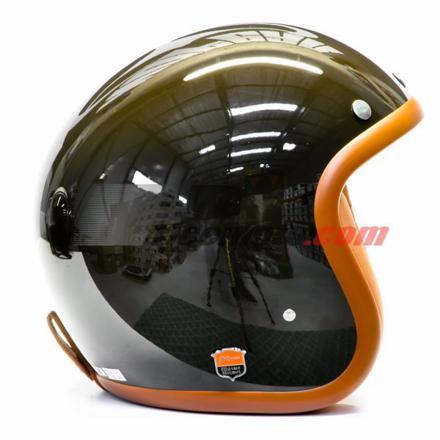 casque moto vert kaki