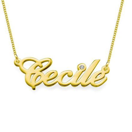 chaine or avec prénom