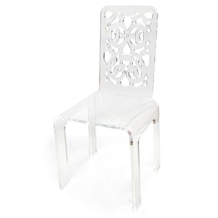 chaise acrylique