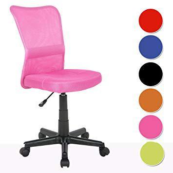 chaise de bureau rose