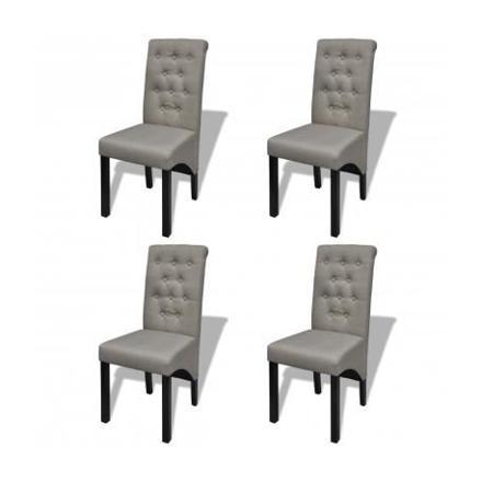 chaise de salon grise
