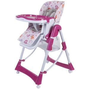 chaise haute bébé fille
