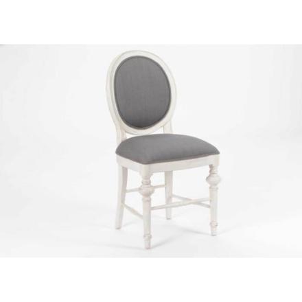 chaise medaillon blanche et grise