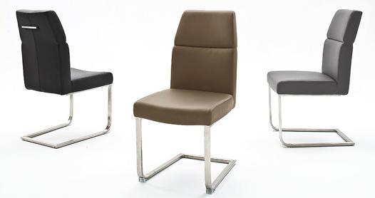 chaise pied inox brossé