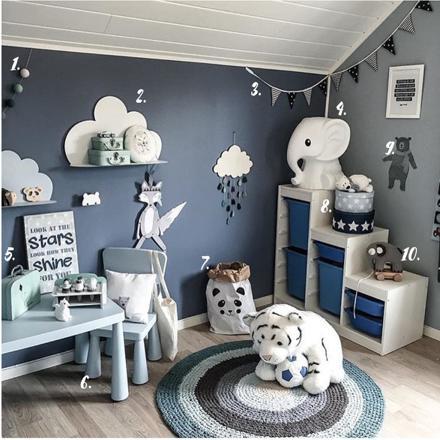 chambre garcon gris bleu