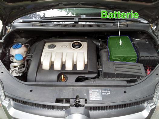 changement batterie golf 6