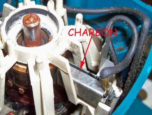 changer charbon perceuse