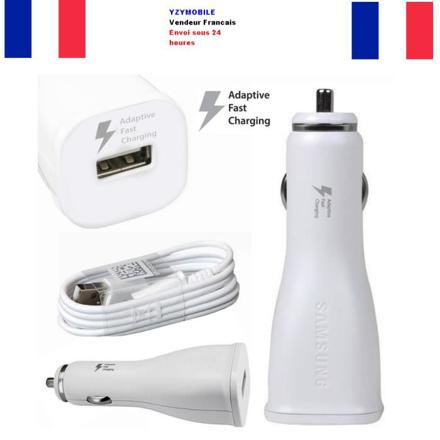 chargeur voiture samsung rapide