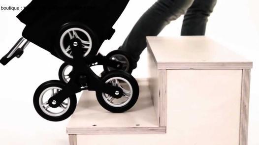 chariot de course monte escalier