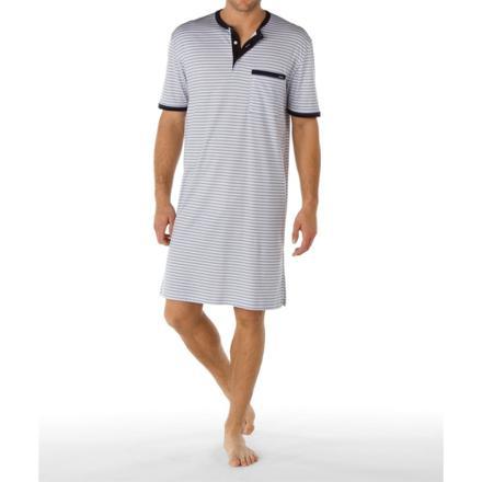 chemise de nuit homme manches courtes