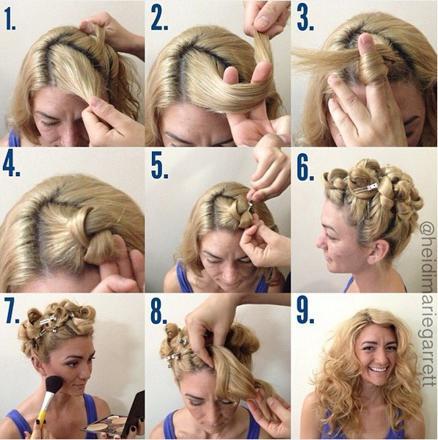 cheveux ondulés sans fer