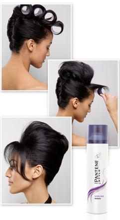 coiffure avec rouleaux