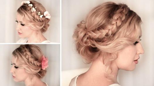 coiffure femme mariage cheveux mi long