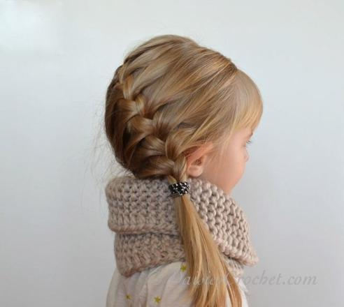 coiffure simple fille