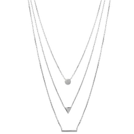 collier 3 rangs argent